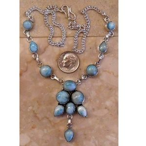 Jewelry - LARIMAR and sterling silver necklace 192-1